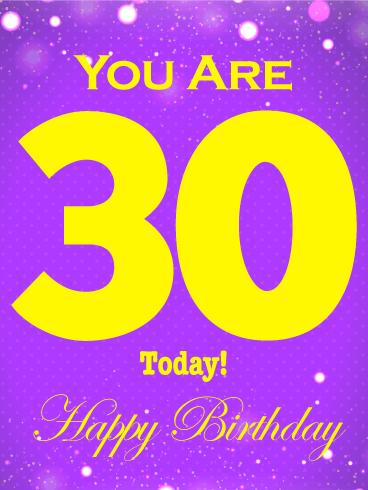 30th Birthday Card Birthday Greeting Cards by Davia