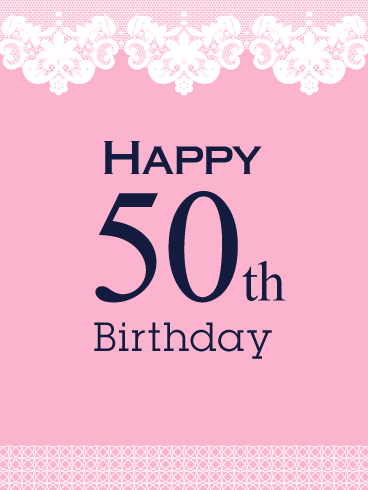 Happy 50th Birthday Card | Birthday & Greeting Cards by Davia