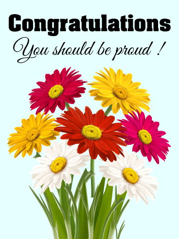You Should Be Proud! Daisy Congratulations Card | Birthday ...