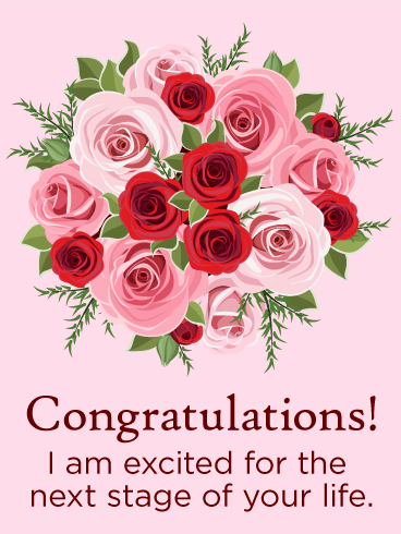 Rose Congratulations Card Birthday Amp Greeting Cards By Davia