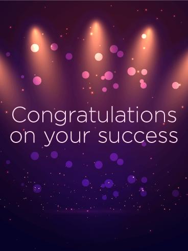 Celebrating Your Success - Congratulations Card | Birthday ...