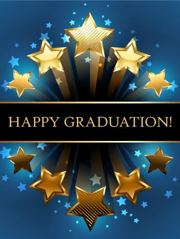 Shooting Star Graduation Card   Birthday & Greeting Cards ...