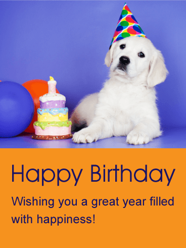 Wishing You A Great Year Animal Birthday Card Birthday Animals Wishing Happy Birthday
