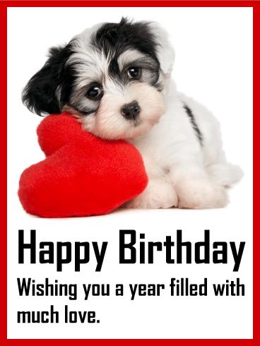 Loving Puppy Birthday Card Birthday Amp Greeting Cards By