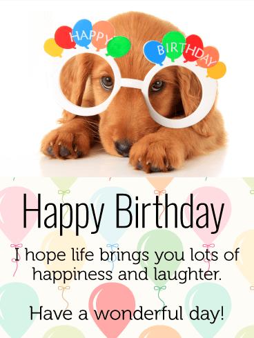 Celebrating Dog Happy Birthday Card For Kids Birthday