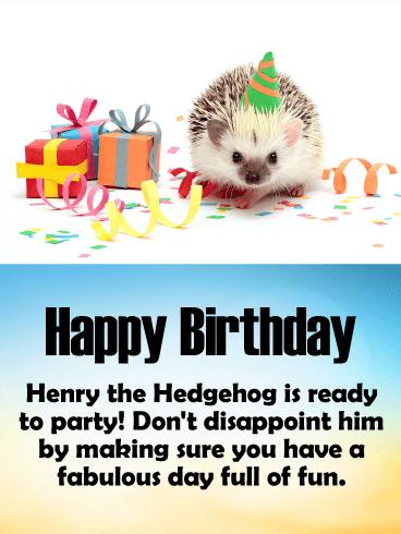Astonishing Adorable Birthday Hedgehog Card Birthday Amp Greeting Personalised Birthday Cards Epsylily Jamesorg