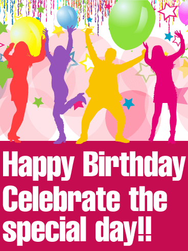 Exciting Birthday Party Card   Birthday & Greeting Cards by Davia
