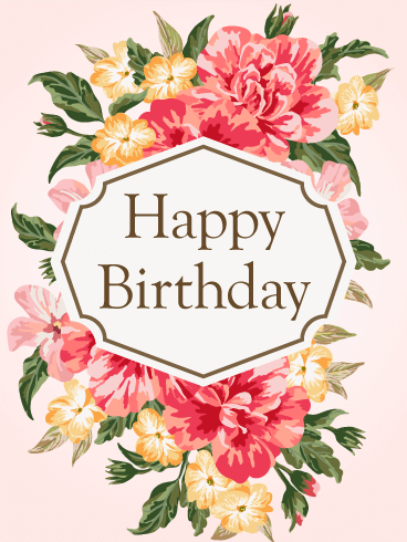 gorgeous flower birthday card for her  birthday  greeting cards, Beautiful flower