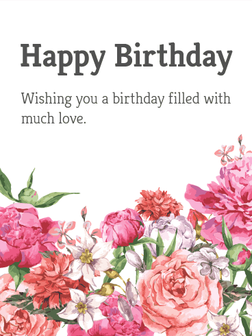 garden flower happy birthday card  birthday  greeting cards by davia, Birthday card