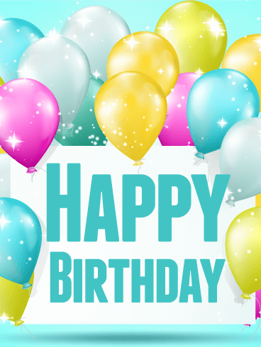 Shining Birthday Balloon Card Greeting Cards Png 368x490 For Him Happy Balloons