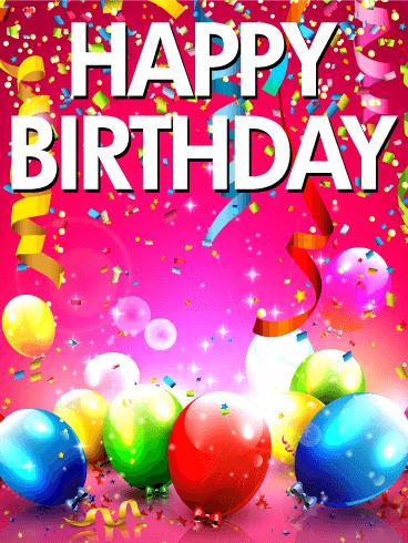 Astonishing Shining Birthday Party Card Birthday Amp Greeting Cards By Funny Birthday Cards Online Unhofree Goldxyz