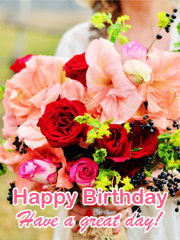 gorgeous birthday flower card birthday greeting cards davia