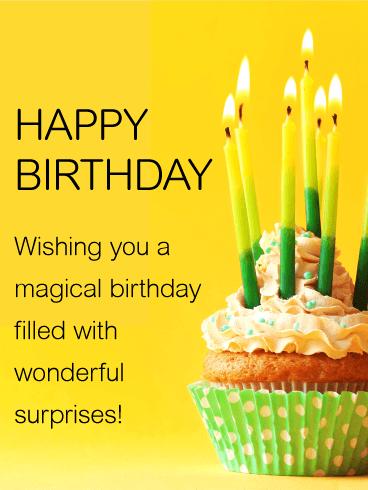 Wishing You A Magical Birthday Happy Birthday Card Wishing You Happy Birthday