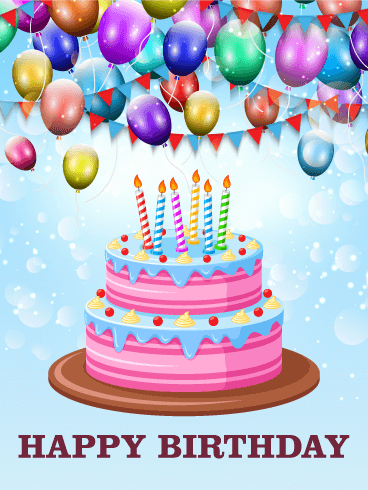 happy birthday cake pic let s celebrate with delicious cake happy birthday card 4708