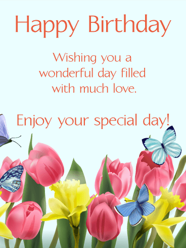 Happy Spring Birthday Card Birthday Greeting Cards By Last Person To Wish You Happy Birthday