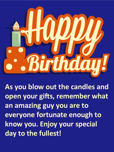 you are an amazing guy happy birthday card birthday