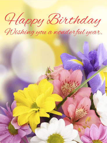 Image Result For Flower Card Birthday Messages