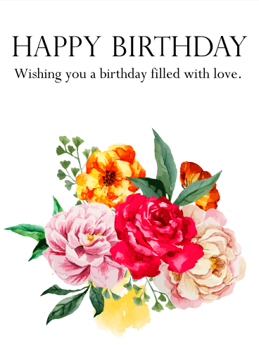 Lovely Birthday Flower Card Birthday Amp Greeting Cards By