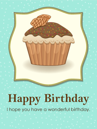 happy birthday  chocolate cupcake birthday card  birthday, Birthday card