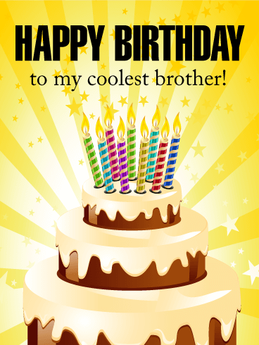 to my coolest brother  happy birthday card  birthday  greeting, Birthday card