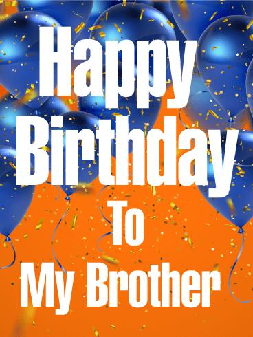 blue birthday balloon card brother birthday greeting cards davia