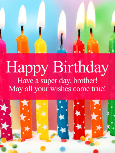 Have A Super Day Happy Birthday Card For Brother