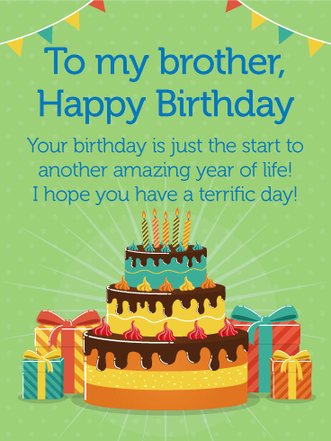 Have a Terrific Day! Happy Birthday Card for Brother ...