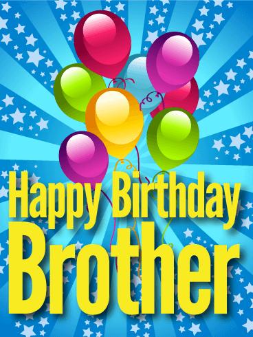 Glitzy Happy Birthday Card for Brother | Birthday ...