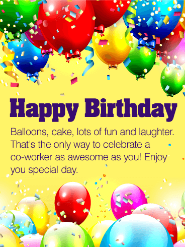 Enjoy Your Special Day Happy Birthday Wishes Card For Co