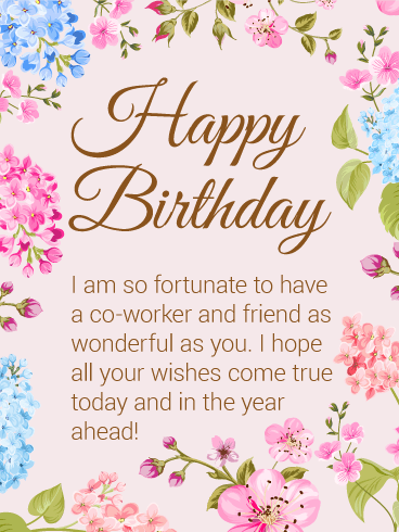Happy Birthday Flower Card For Co Worker Png 368x490 Wishes Coworker