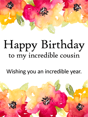Wishing You A Incredible Year Happy Birthday Card For