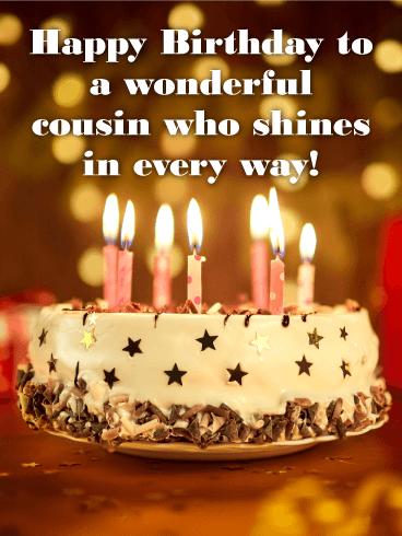 wonderful cousin happy birthday card birthday greeting cards davia