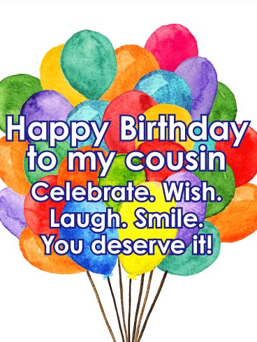 Bright & Festive Happy Birthday Card for Cousin | Birthday ...
