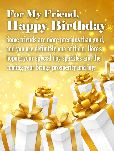 To my Precious Friends - Happy Birthday Wishes Card for ...