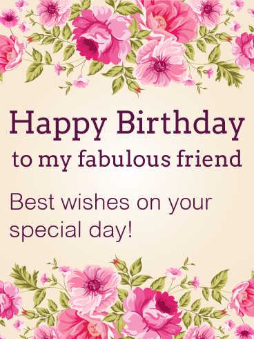 Best Wishes on Your Special Day Happy Birthday Card for Friends