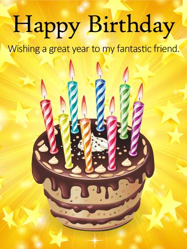 Ta Dah Happy Birthday Cake Card For Friends Birthday