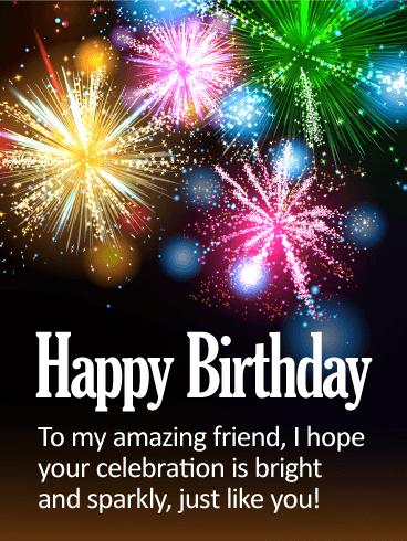 To My Bright Friend Happy Birthday Card Birthday