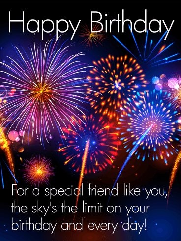 special friend happy birthday card birthday greeting cards davia
