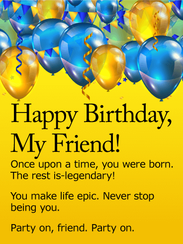 Happy birthday to a special male friend