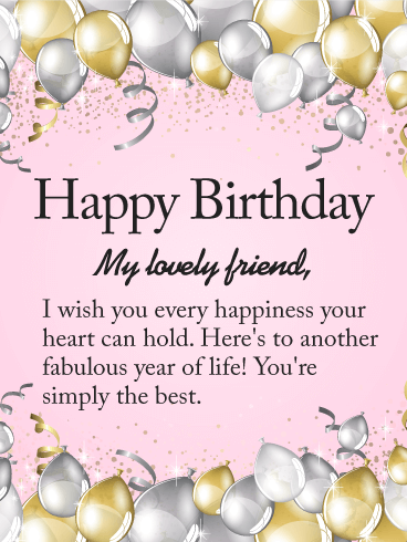 To my Lovely Friend - Happy Birthday Wishes Card ...