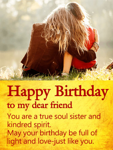You Are A True Soul Sister Happy Birthday Wishes Card