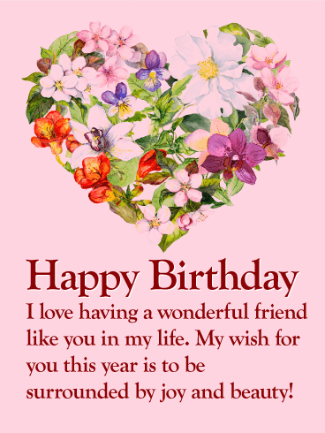 happy birthday letter to a special friend flower happy birthday wishes card for friends 18431