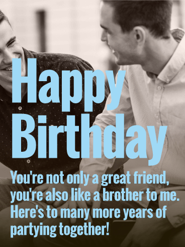 To Party Together Happy Birthday Wishes Card For Friends