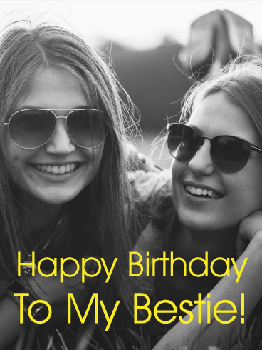 Fabulous To My Bestie Happy Birthday Card Birthday Amp Greeting Personalised Birthday Cards Akebfashionlily Jamesorg