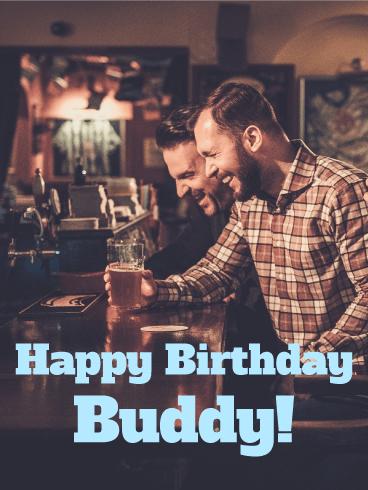 buddy happy birthday card birthday greeting cards davia