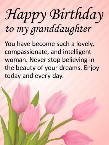 To my Lovely Granddaughter - Happy Birthday Wishes Card ...