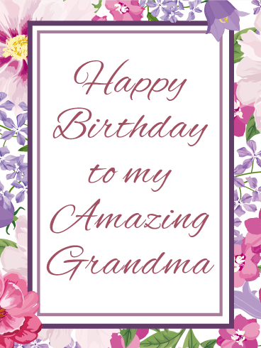 Effortless image in printable birthday cards for grandma