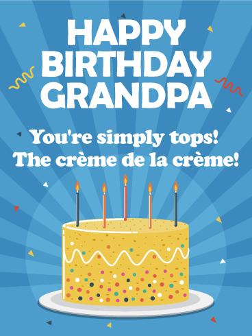 Luscious image throughout grandpa birthday card printable