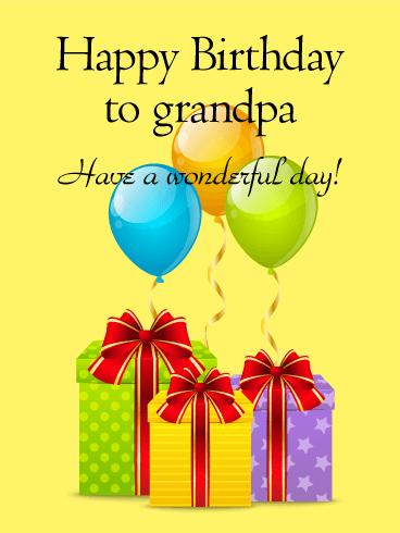 Refreshing image with grandpa birthday card printable