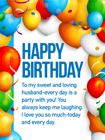 to the love of my life   happy birthday wishes card for